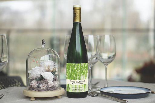 Verziert eure Getränke auf den Hochzeit mit unseren kreativen Weinetiketten oder unseren ausgefallenen Weinetiketten.